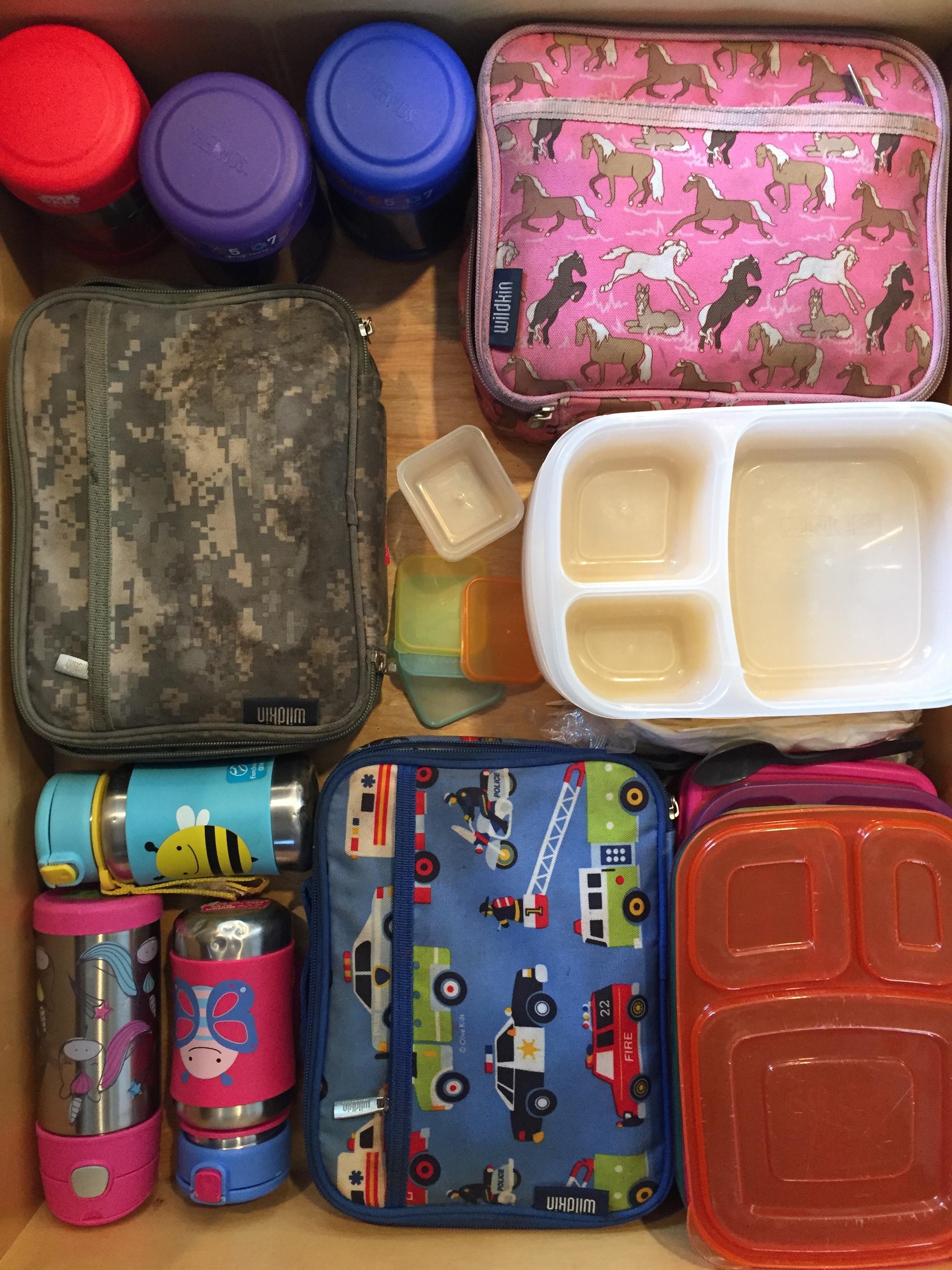 packing lunch for kids wildkins lunch boxes Thermos insulated food jars Skip Hop water bottles Thermos insulated water bottle easy lunchboxes mini dippers