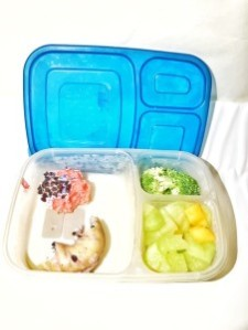 easy luncbox packed with food