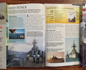 Battleships book with DVD page spread from Weapons of War series