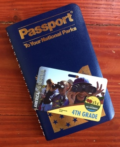 National Parks passport book with free fourth grade membership card for fourth graders