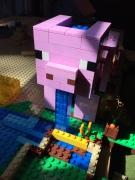 Minecraft Lego Pig house