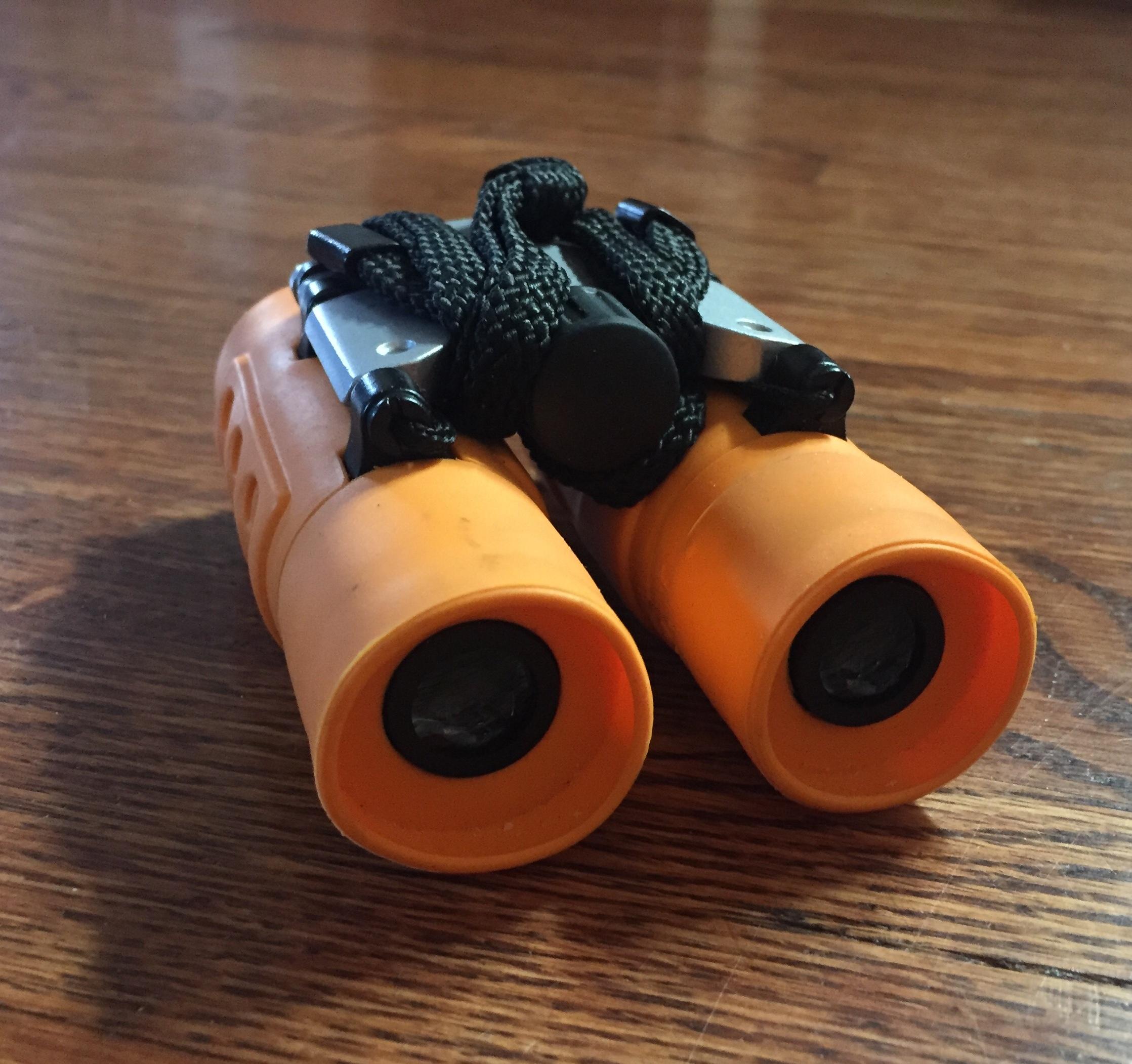 Obuby binoculars for kids in orange
