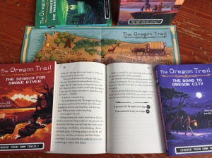 The Oregon Trail Choose Your Own Adventure book open to