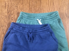 Old Navy Kids Clothes in Common sweatpants in green and blue with pockets and drawstring waist