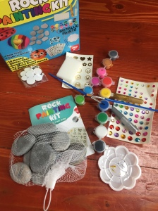 Joyeza rock painting kit contents rocks paint paintbrushes glitter glue gems googly eyes paint palette sponge and more