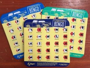 License plate bingo boards